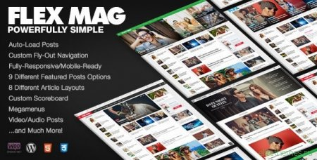 Flex Mag v1.12 — Responsive WordPress новостной шаблон