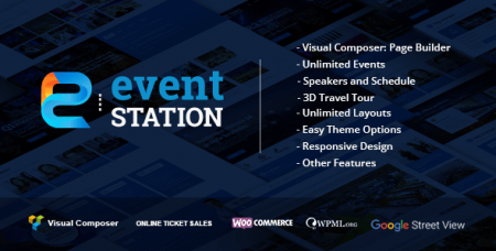 Event Station - Event & Conference WordPress шаблон