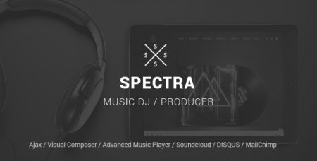 SPECTRA v1.5.4 – Responsive Music WordPress шаблон