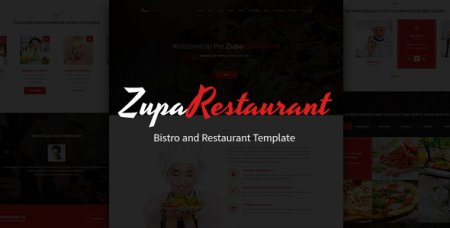 ZupaRestaurant – Ресторан PSD шаблон