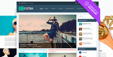 Extra v2.0.25 - шаблон WordPress для блогеров