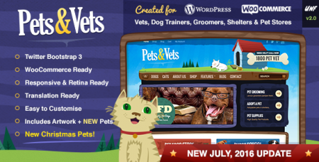 Pets & Vets v2.2 - WordPress & WooCommerce шаблон