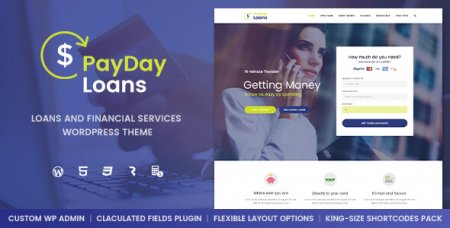 Payday Loans v1.0.3 - финансовый  WordPress шаблон