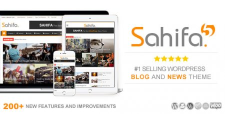 Sahifa v5.6.4 – адаптивный новостной WordPress шаблон