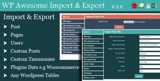 WordPress Awesome Import & Export Плагин v2.6