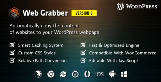 Web Grabber v3.0 – WordPress HTML Scraping плагин