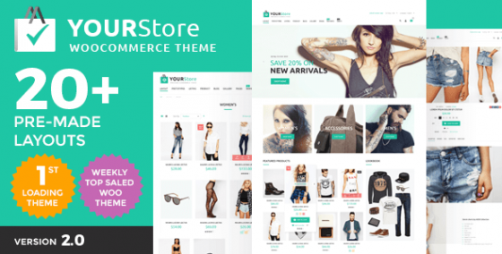 YourStore v1.8 - Адаптивный шаблон WordPress Woocommerce