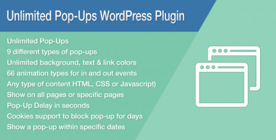 Unlimited Pop-Ups v1.4.5 - Премиум WordPress Плагин