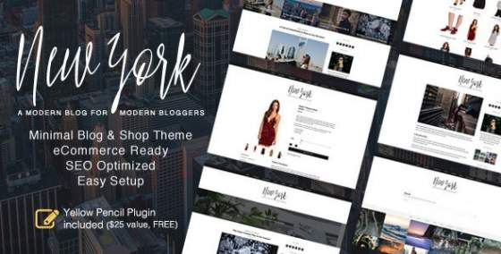 New York v1.4.0 - Адаптивный WordPress Блог и Магазин