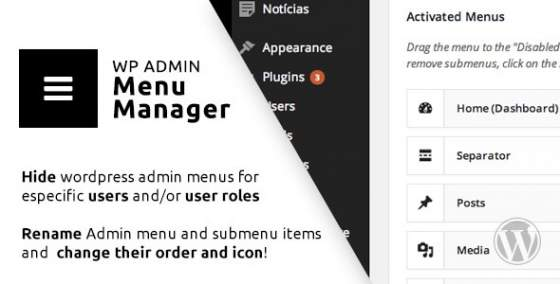 WP Admin Menu Manager v3.0.12