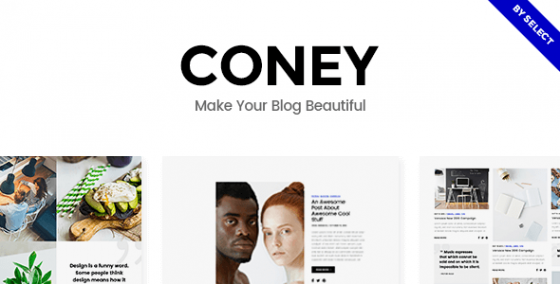 Coney v1.1 - Модный шаблон WordPress для блогов