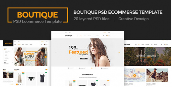 Boutique - Ecommerce PSD шаблон