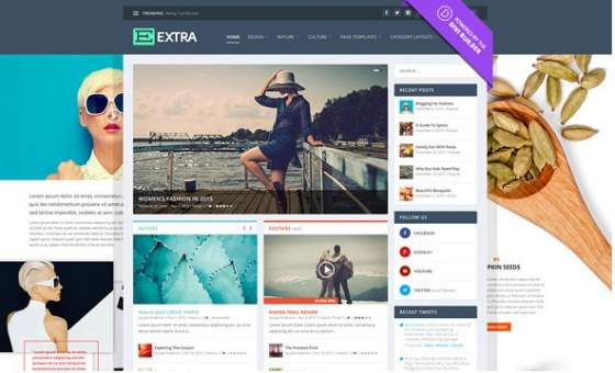 Extra v2.0.73 - Elegantthemes премиум Wordpress шаблон
