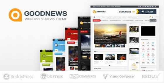 Goodnews v5.8.9 - Адаптивный новостной WordPress шаблон