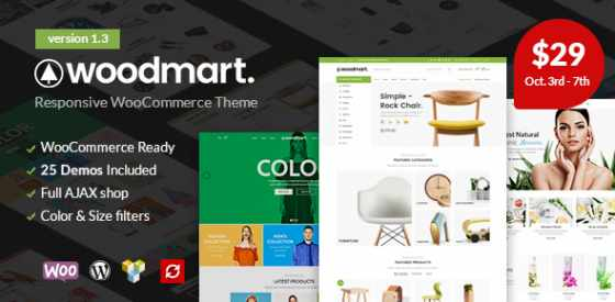 WoodMart v1.3 - Адаптивный шаблон WordPress для WooCommerce