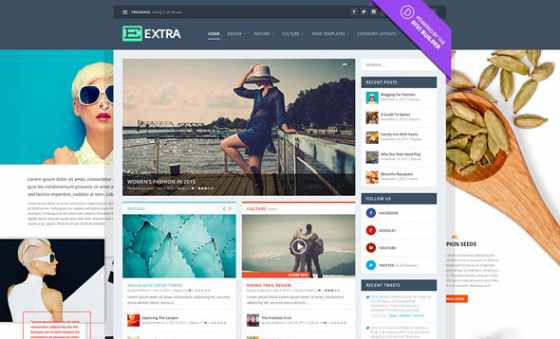 Extra v2.0.81 - Elegantthemes премиум Wordpress шаблон