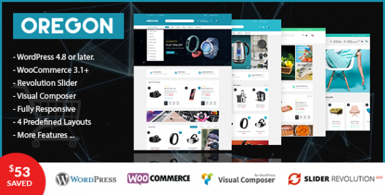 VG Oregon v1.0 - адаптивный WooCommerce WordPress шаблон