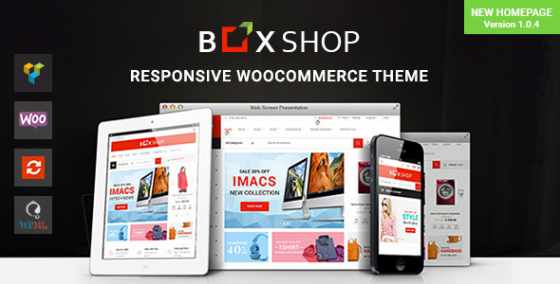 BoxShop v1.0.4 - адаптивный шаблон WordPress WooCommerce